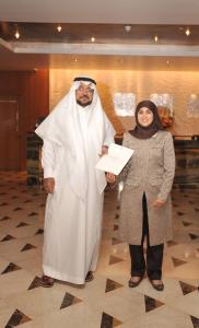 Dr. Mobarak Aldosari and Her Highness Sheika Hissa Mohammed Al-Sabah